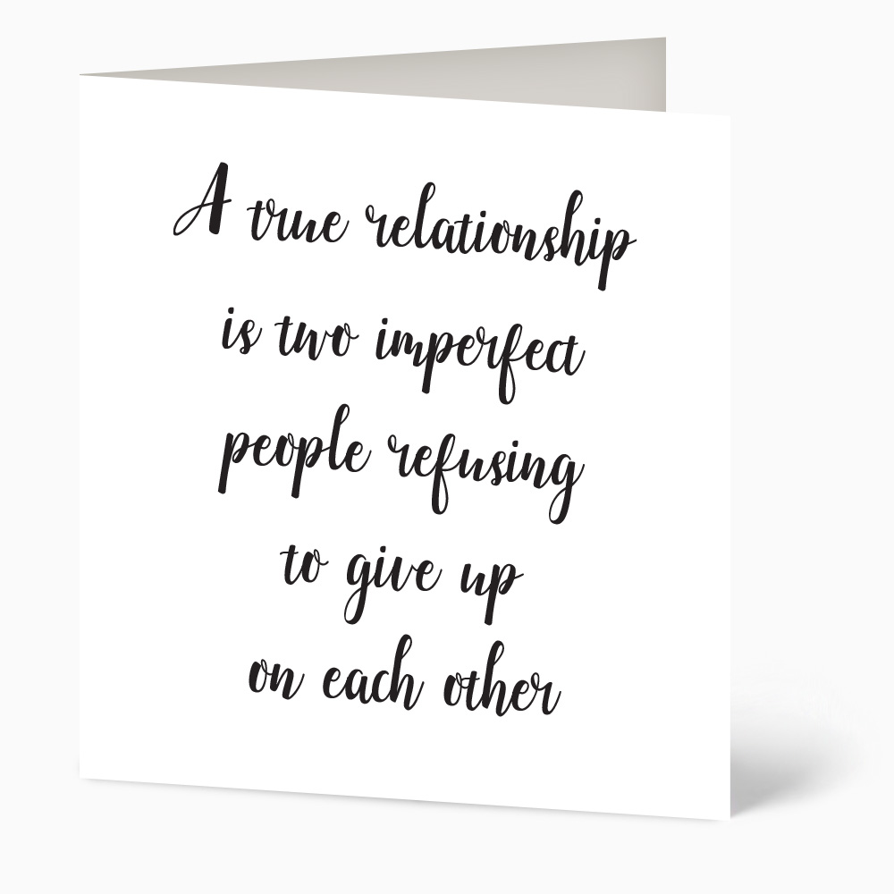 A True Relationship Quote Card
